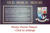 Link to large picture of the Moray House Plaque