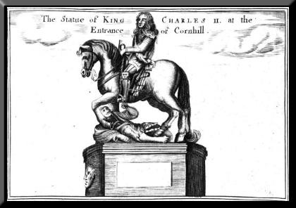 representation of King charles and Cromwell