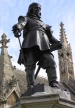 Cromwell's statue outside Parliament, London